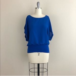 Chico's Dolman Sleeve Banded Waist Blouse